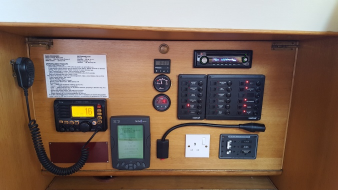 Instruments at Chart Table