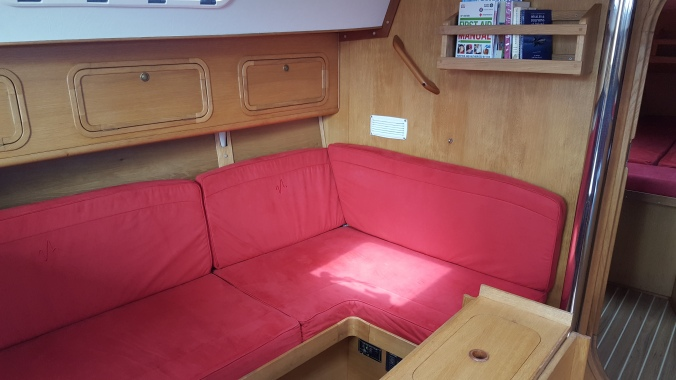 Port side with cushions